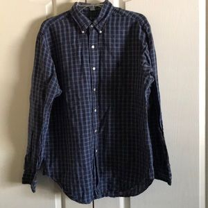 Ralph Lauren Blue Plaid Button Down Shirt Men's L